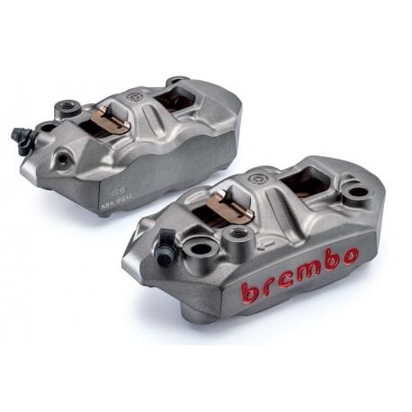 Paire d'étriers de frein radiaux forgés monobloc BREMBO M4 34/34 GRIS 108mm