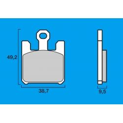 Plaquettes de frein avant Route / Piste BREMBO SC Sinter Composite KAWASAKI ZX6R 03-06 / Z750R / ZX10R 04-07 / ZX12R 04