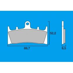 Plaquettes de frein avant Route / Piste BREMBO SC Sinter Composite ZX6R / ZX9R / ZX12R / ZRX 1100 - 1200 GSXR 750 94-99 GSXR 100