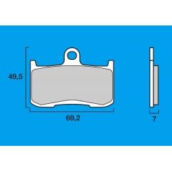 Plaquettes de frein avant Route / Piste BREMBO SC Sinter Composite KAWASAKI ZX9R / Z1000 / SUZUKI B KING / TRIUMPH DAYTONA 06-08