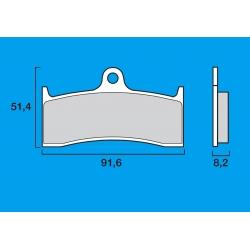 Plaquettes de frein avant Route / Piste BREMBO SC Sinter Composite MV AGUSTA BRUTALE 750 - 910 / F4 750 - 1000 KAWASAKI ZX9R