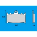 Plaquettes de frein avant Route / Piste BREMBO SC Sinter Composite KAWASAKI ZX6R 90-97 / ZXR 750 / ZX7R / ZX9R / ZZR 1100 1200 /