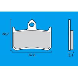 Plaquettes de frein avant Route / Piste BREMBO SC Sinter Composite HONDA RVF 400 RR / VFR 400 / RC30 / RC45 / CBR 900 RR / 900 H
