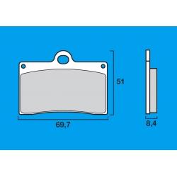 Plaquettes de frein avant Route / Piste BREMBO SC Sinter Composite RS250 95-97 / 748 / 851 / 888 / 916 / MONSTER 600 - 900