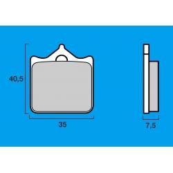 Plaquettes de frein avant Route / Piste BREMBO SC Sinter Composite 748 R / 749 / 996 R / 998 / 999 / BRUTALE 910 R / F4 R 312 /