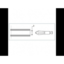 Adaptateur de montage protection de leviers PROGUARD SYSTEM pour guidon d'origine HONDA / SUZUKI