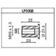 LP335B Adaptateur de montage PROGUARD SYSTEM RIZOMA pour guidon d'origine MV AGUSTA B3 675 / 800