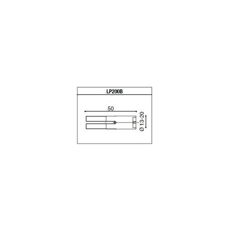 LP200B Adaptateur de montage PROGUARD SYSTEM RIZOMA pour guidon d'origine TRIUMPH (Toutes sauf SPEED TRIPLE 11- / STREET TRIPLE