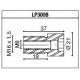 LP300B Adaptateur de montage PROGUARD SYSTEM RIZOMA pour guidon d'origine YAMAHA TOUS MODELE (sauf R1 R6)