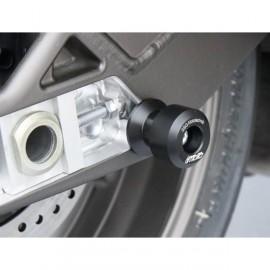 Diabolos support b'quille 8 mm GSG MOTO S1000RR, HP4, S1000R plastique noir