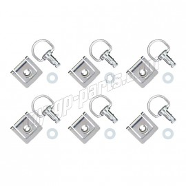 Lot de 6 DZEUS à clipser complet 13 mm