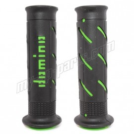 Revêtement de guidon RACING DOMINO XM2 double super soft grip NOIR / VERT