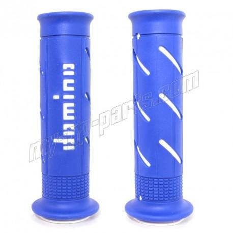 Revêtement de guidon RACING DOMINO XM2 double super soft grip BLEU / BLANC
