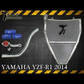 Radiateur eau grand format Taleo Tecnoracing YZF R1 2009-2014