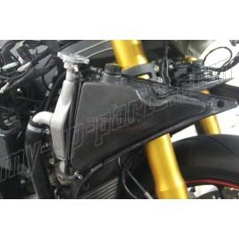 Déflecteur d'air de radiateur avec vase d'expansion intégré carbone Ducati 899, 1199 Panigale