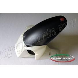 Garde-boue avant blanc carbone CARBONVANI Ducati Multistrada 1200