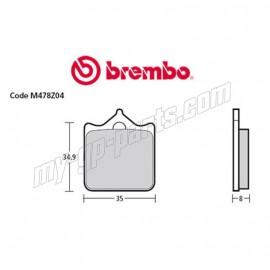 Plaquettes de frein avant Brembo Z03 Type A Endurance BMW