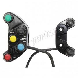 Kit commodo racing droit et gauche S1000RR HP4 2012-2014 Plug & Play Carraro Engineering