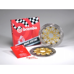 Pack 2 disques de frein racing HPK Supersport 300 mm GSXR 600, 750, 1000 BREMBO