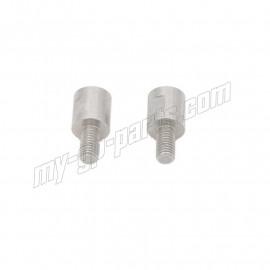 Paire d'adaptateurs de rétroviseurs avec filet (de M10x1.25 a M8 / droit + gauche) LIGHTECH